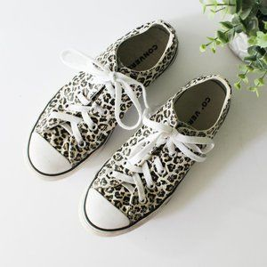 Converse Girls Leopard Cheetah Shoes Sneakers